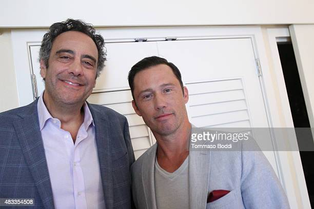 Actors Brad Garrett and Jeffrey Donovan of FX's 'Fargo' attend the Getty Images Portrait Studio powered by Samsung Galaxy at 2015 Summer TCA's at The...