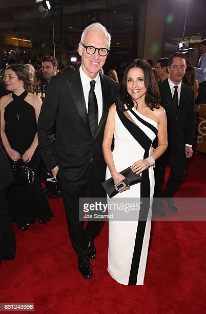 Actors Brad Hall and Julia LouisDreyfus attend the 74th Annual Golden Globe Awards at The Beverly Hilton Hotel on January 8 2017 in Beverly Hills...