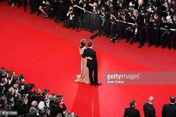 Actors Brad Pitt and Angelina Jolie arrive for the Inglourious Basterds Premiere held at the Palais Des Festivals during the 62nd International...