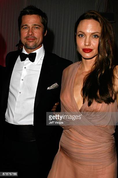 Actors Brad Pitt and Angelina Jolie attend the ''Inglourious Basterds' after party presented by Belstaff at Baoli during the 62nd Annual Cannes Film...