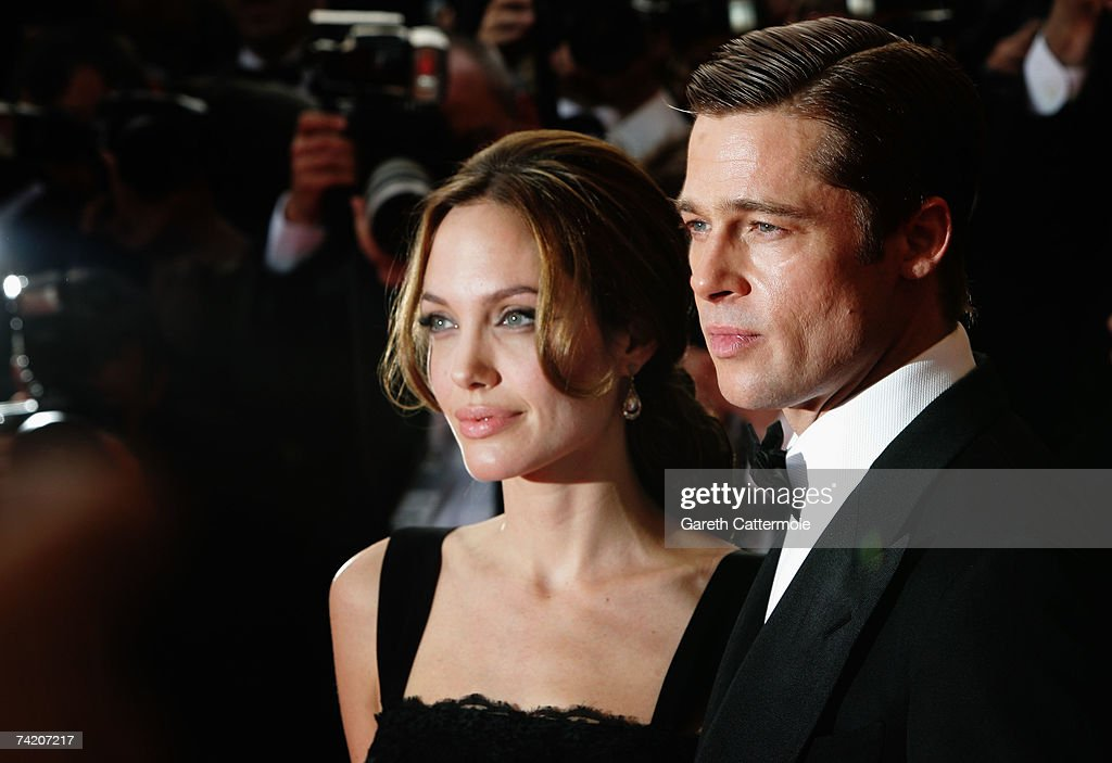 Actors Brad Pitt and Angelina Jolie attend the premiere for the film 'A Mighty Heart' at the Palais des Festivals during the 60th International Cannes Film Festival on May 21, 2007 in Cannes, France.