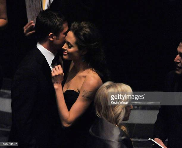 Actors Brad Pitt and Angelina Jolie during the 81st Annual Academy Awards held at Kodak Theatre on February 22 2009 in Los Angeles California