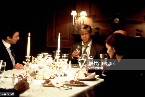 Actors Brad Pitt Jack Weber and Marcia Gay Harden in the film 'Meet Joe Black'