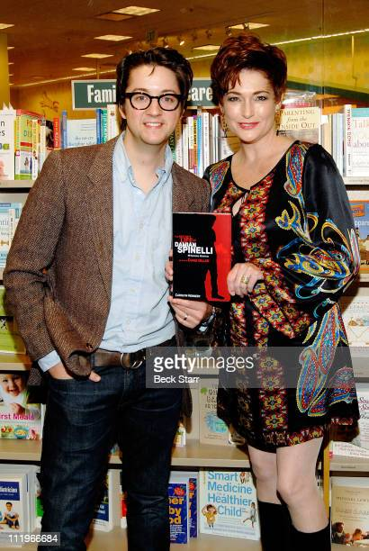 Actors Bradford Anderson and Carolyn Hennesy attend a special signing of their new book The Secret Life of Damian Spinelli at Barnes Noble bookstore...