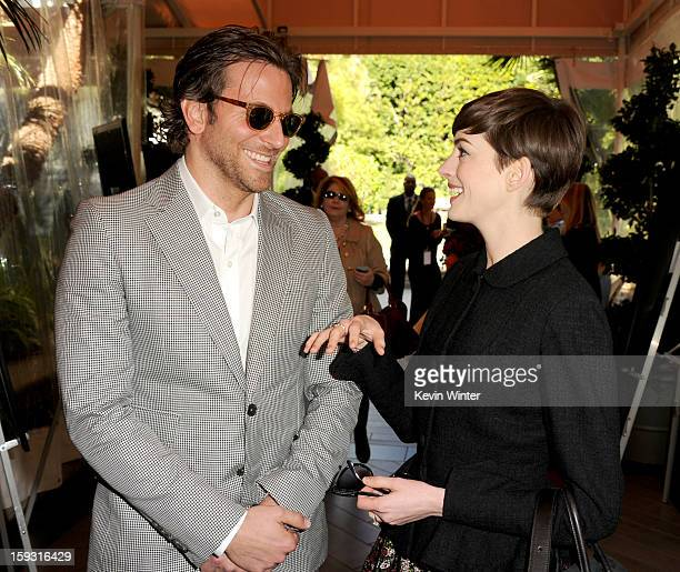 88c0a1ec40 Actors Bradley Cooper and Anne Hathaway attend the 13th Annual AFI Awards  at Four Seasons Los