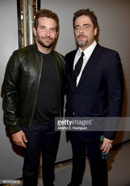 """Actors Bradley Cooper and Benicio del Toro attend The World Premiere of Marvel's epic space adventure """"Guardians of the Galaxy"""" directed by James..."""