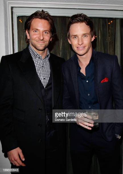 "Actors Bradley Cooper and Eddie Redmayne attend W Magazine's Best Performances Issue"" and the Golden Globe Awards celebration with W Magazine..."