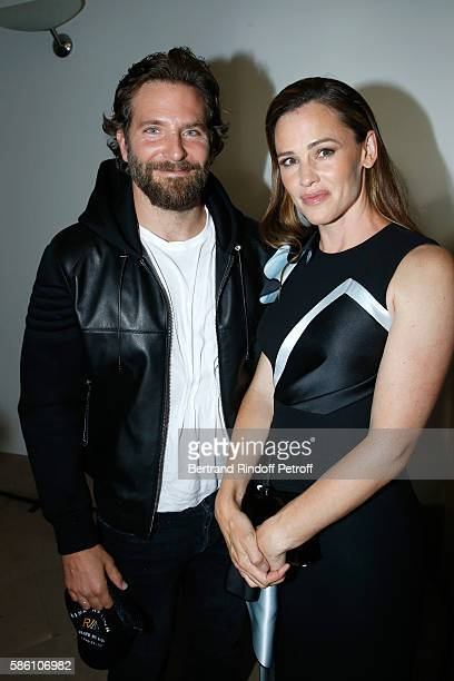 Actors Bradley Cooper and Jennifer Garner attend the Atelier Versace Haute Couture Fall/Winter 20162017 show as part of Paris Fashion Week on July 3...