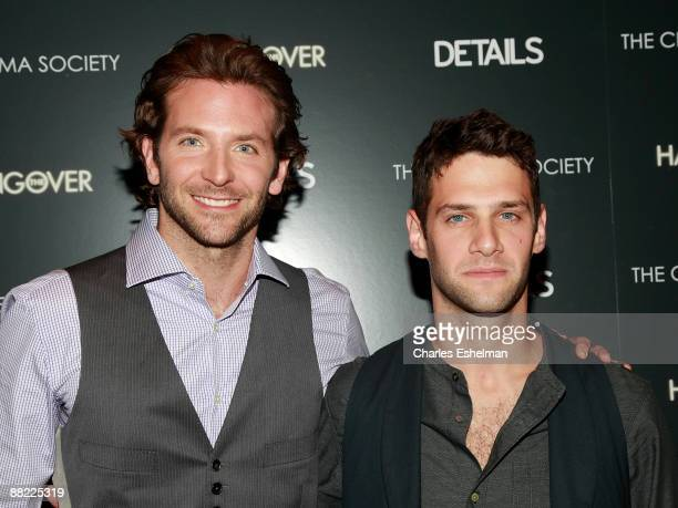 Actors Bradley Cooper and Justin Bartha attend a screening of The Hangover hosted by the Cinema Society and Details at the Tribeca Grand Screening...