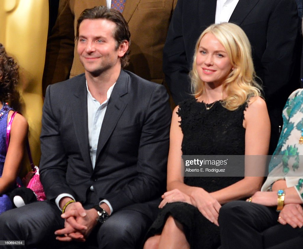 Actors Bradley Cooper and Naomi Watts attend the 85th Academy Awards Nominations Luncheon at The Beverly Hilton Hotel on February 4, 2013 in Beverly Hills, California.