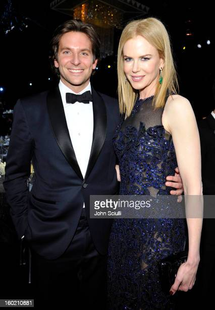 Actors Bradley Cooper and Nicole Kidman attend the 19th Annual Screen Actors Guild Awards at The Shrine Auditorium on January 27, 2013 in Los...