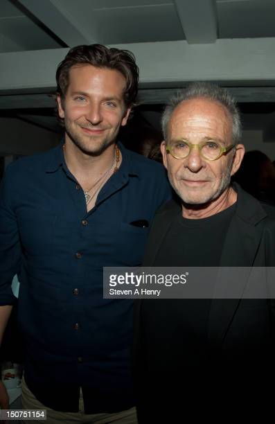 Actors Bradley Cooper and Ron Rifkin attend the post reception for 'The Words' screening at Georgica Restaurant Lounge on August 25 2012 in East...
