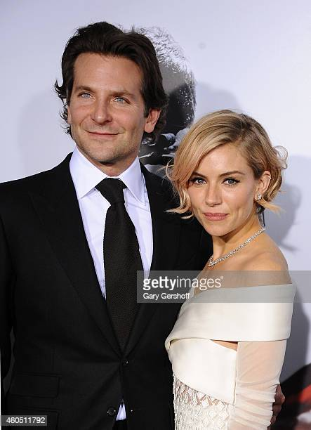 Actors Bradley Cooper and Sienna Miller arrive at the 'American Sniper' New York Premiere at Frederick P Rose Hall Jazz at Lincoln Center on December...