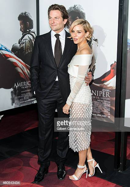 Actors Bradley Cooper and Sienna Miller attend the 'American Sniper' New York Premiere at Frederick P Rose Hall Jazz at Lincoln Center on December 15...