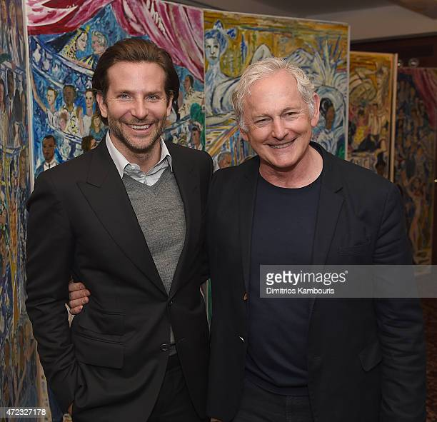 Actors Bradley Cooper and Victor Garber attend Sardi's Caricature Unveiling at Sardi's on May 6 2015 in New York City