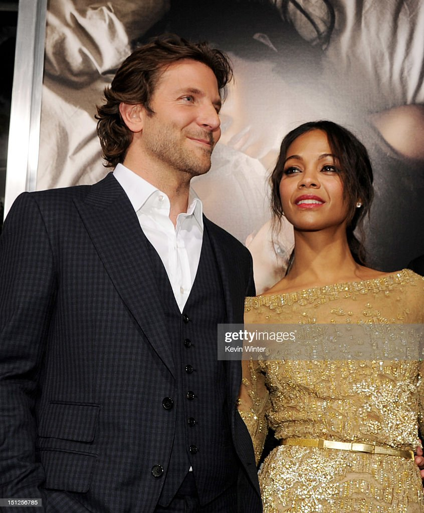 Actors Bradley Cooper (L) and Zoe Saldana arrive at the premiere of CBS Films' 'The Words' at the Arclight Theatre on September 4, 2012 in Los Angeles, California.
