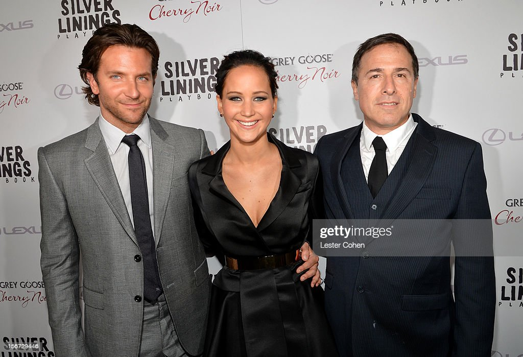 Actors Bradley Cooper, Jennifer Lawrence, and Writer/Director David O. Russell attend the ''Silver Linings Playbook' Los Angeles special screening at the Academy of Motion Picture Arts and Sciences on November 19, 2012 in Beverly Hills, California.
