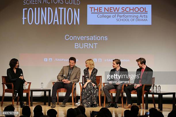 Actors Bradley Cooper, Sienna Miller, Daniel Bruhl and Sam Keeley chat with Jessica Shaw during the SAG Foundation Conversations Screening and Q&A...