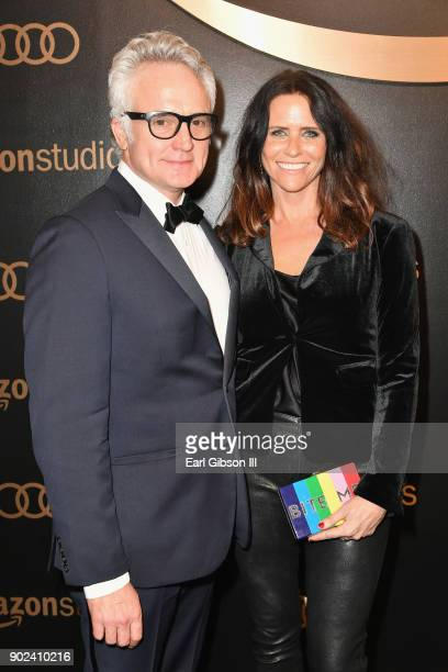 Actors Bradley Whitford and Amy Landecker attends Amazon Studios' Golden Globes Celebration at The Beverly Hilton Hotel on January 7 2018 in Beverly...