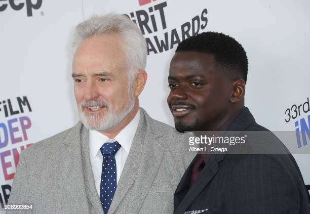 Actors Bradley Whitford and Daniel Kaluuya arrive for the 2018 Film Independent Spirit Awards on March 3 2018 in Santa Monica California