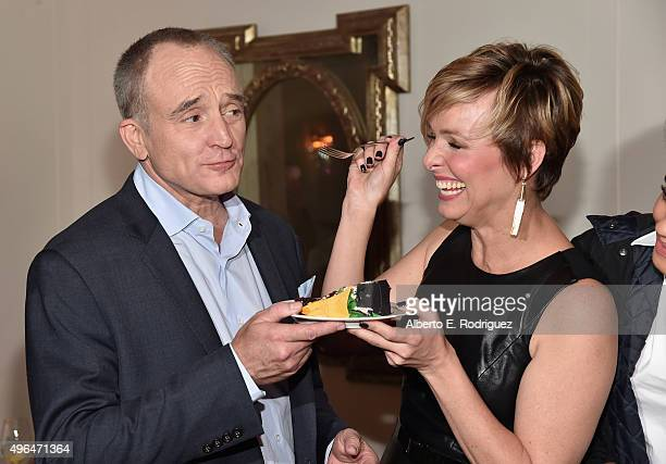 Actors Bradley Whitford and Melora Hardin attend the after party for the Premiere Of Amazon's 'Transparent' Season 2 at SilverScreen Theater at the...