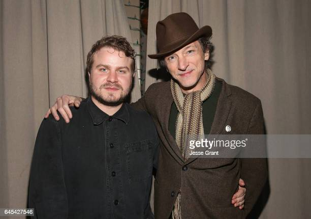 Actors Brady Corbet and John Hawkes attend IFC Films' Spirit Awards Party at 41 Ocean Club on February 25 2017 in Santa Monica California