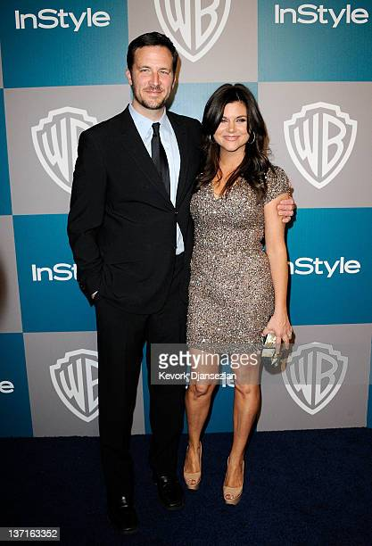 Actors Brady Smith and Tiffani Thiessen arrive at 13th Annual Warner Bros and InStyle Golden Globe Awards After Party at The Beverly Hilton hotel on...