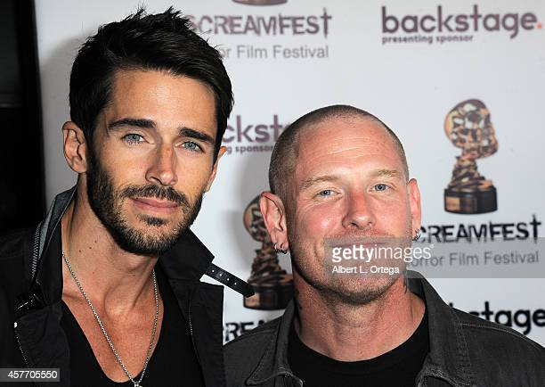 Actors Brandon Beemer and Corey Taylor arrive for the 'Fear Clinic' Premiere Screening And QA as part of 2014 ScreamFest held at TCL Chinese 6...