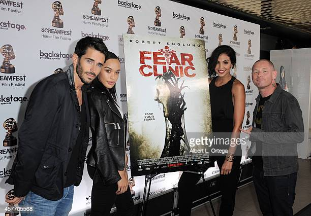 Actors Brandon Beemer Cleopatra Coleman Felisha Terrell and Corey Taylor arrive for the 'Fear Clinic' Premiere Screening And QA as part of 2014...