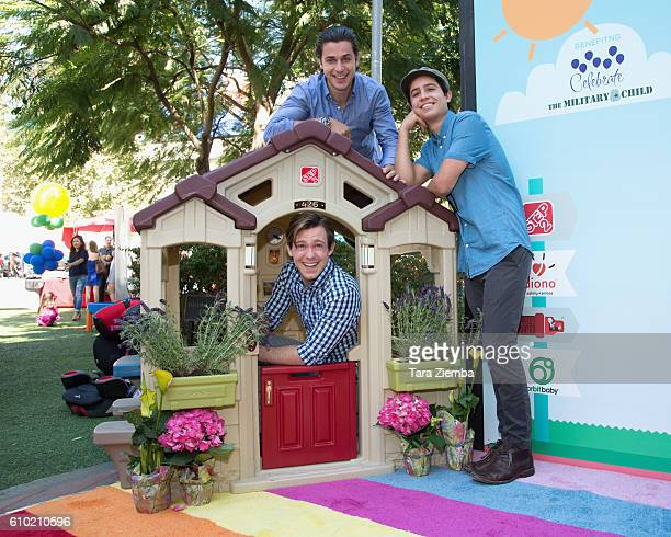 Actors Brandon 'Bug' Hall David Henrie and Lorenzo James Henrie attend the Step2 Favoredby Present The 5th Annual Red Carpet Safety Awareness Event...