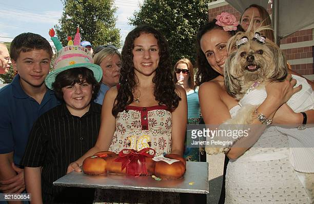 Actors Brandon Hannan Josh Flitter Hallie Kate Eisenberg and from Greastest American Dog Beth Joy Knutsen and Bella Starlet Dog attend North Shore...