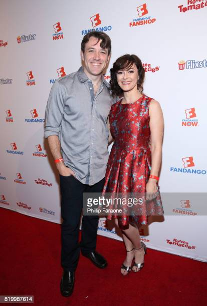 Actors Brandon Jones and Amanda Troop at the ComicCon International 2017 Fandango opening night party with special performance by Elle King at San...