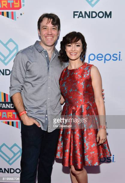 Actors Brandon Jones and Amanda Troop at the FANDOM Fest Party during ComicCon International 2017 at Hard Rock Hotel San Diego on July 20 2017 in San...