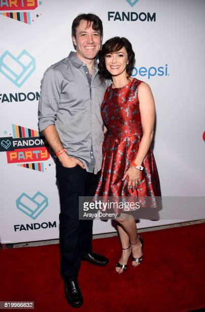 Actors Brandon Jones and Amanda Troop at the FANDOM Party during ComicCon International 2017 at Hard Rock Hotel San Diego on July 20 2017 in San...