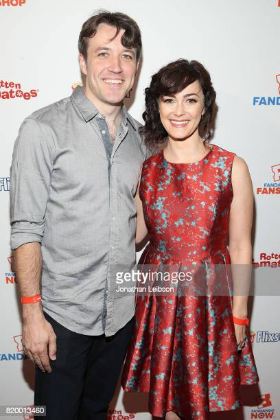 Actors Brandon Jones and Amanda Troop attend the Fandango Party @ 2017 San Diego Comic Con at The Omni on July 20 2017 in San Diego California