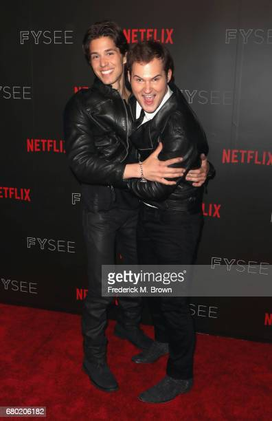 Actors Brandon Larracuente and Justin Prentice arrive at the Netflix FYSee Kick Off Event at Netflix FYSee Space on May 7 2017 in Beverly Hills...