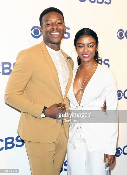 Actors Brandon Micheal Hall and Ebonee Noel attend the 2018 CBS Upfront at The Plaza Hotel on May 16 2018 in New York City