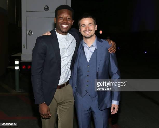 Actors Brandon Micheal Hall and Jason Ritter attend the 2017 ABC/Disney Media Distribution International Upfront at Walt Disney Studio Lot on May 21...
