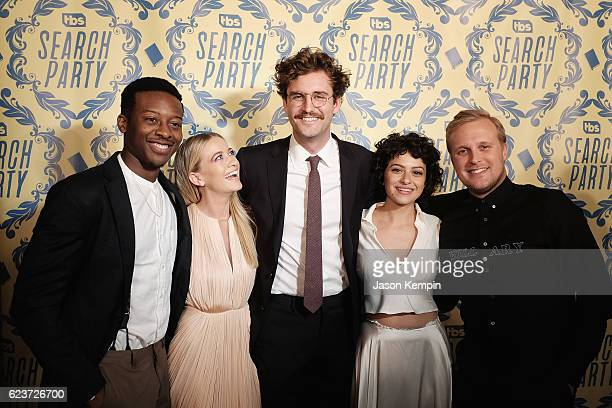 Actors Brandon Micheal Hall Meredith Hagner John Reynolds Alia Shawkat and John Early attend the Search Party NYC Premiere at Metrograph on November...
