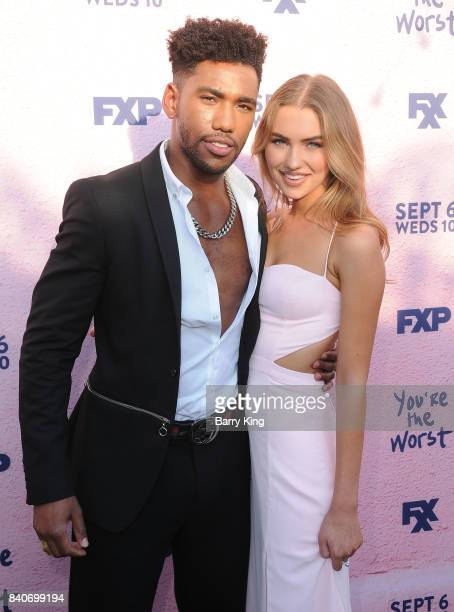 Actors Brandon Mychal Smith and guest attend the premiere of FXX's 'You're The Worst' Season 4 at Museum of Ice Cream LA on August 29 2017 in Los...
