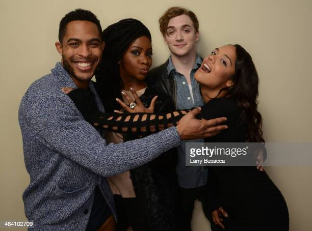 Actors Brandon P Bell Teyonah Parris Kyle Gallner and Tessa Thompson pose for a portrait during the 2014 Sundance Film Festival at the Getty Images...