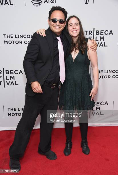 Actors Brandon Polansky and Samantha Elisofon attends the Keep The Change Premiere during 2017 Tribeca Film Festival at Cinepolis Chelsea on April 20...