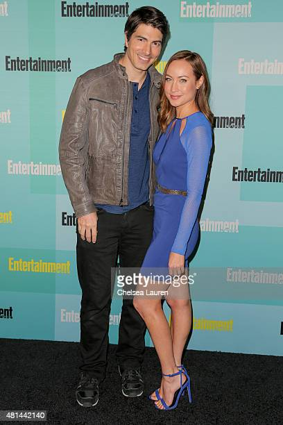 Actors Brandon Routh and Courtney Ford arrive at the Entertainment Weekly celebration at Float at Hard Rock Hotel San Diego on July 11 2015 in San...