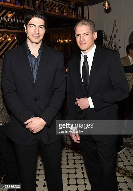 Actors Brandon Routh and Wentworth Miller attend the CW Network's 2015 Upfront party at Park Avenue Spring on May 14 2015 in New York City