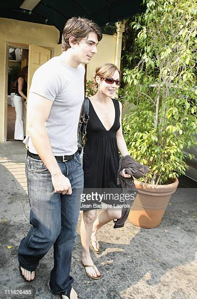 Actors Brandon Routh and wife Courtney Ford sighting on June 25 2008 in Beverly Hills California