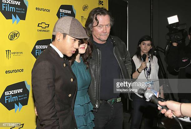 Actors Brandon Soo Hoo Madison Davenport and Robert Patrick at From Dusk Till Dawn The Series Pilot Photo Op and QA during the 2014 SXSW Music Film...