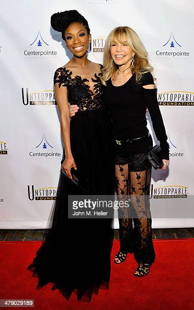 Actors Brandy and Dyan Cannon attend the 5th Annual Unstoppable Gala at the Hyatt Regency Century Plaza Hotel on March 15 2014 in Century City...