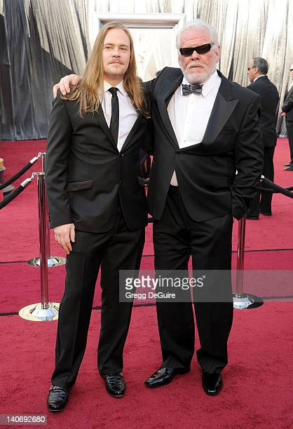 Actors Brawley Nolte and Nick Nolte arrive at the 84th Annual Academy Awards at Hollywood Highland Center on February 26 2012 in Hollywood California