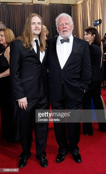 Actors Brawley Nolte and Nick Nolte arrive at the 84th Annual Academy Awards held at Hollywood Highland Centre on February 26 2012 in Hollywood...