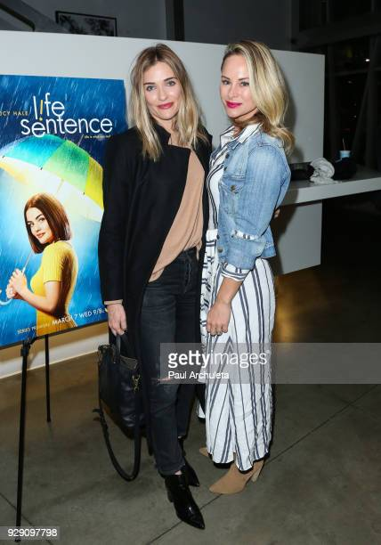 Actors Bre Blair and Alyshia Ochse attend the screening for the CW's Life Sentence at The Downtown Independent on March 7 2018 in Los Angeles...